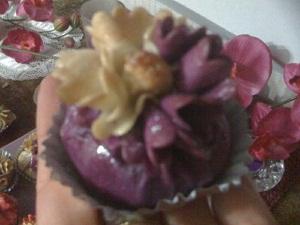 bourse amande violet